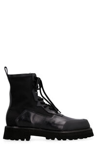 Nylon and leather boots, Lace-up boots RARE man