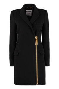 Virgin wool coat, Knee Lenght Coats Moschino woman