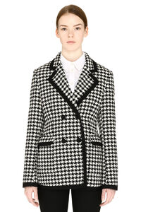 Pied-de-poule double breast blazer, Blazers MSGM woman