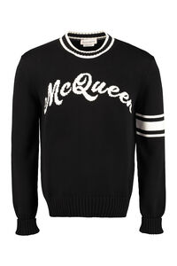 Cotton crew-neck sweater, Crew necks sweaters Alexander McQueen man