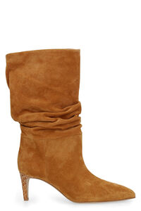 Suede ankle boots, Heeled Boots Paris Texas woman