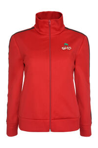 Patch detail full-zip sweatshirt, Zip-up sweatshirts Gucci woman