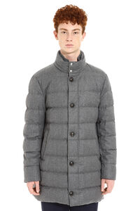 Baudier padded flannel jacket, Down jackets Moncler man