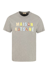 Printed cotton T-shirt, Short sleeve t-shirts Maison Kitsuné man