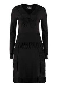 Dress with pleated details and bow, Mini dresses Boutique Moschino woman