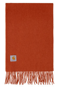 Wool scarf with fringes, Scarves Carhartt man