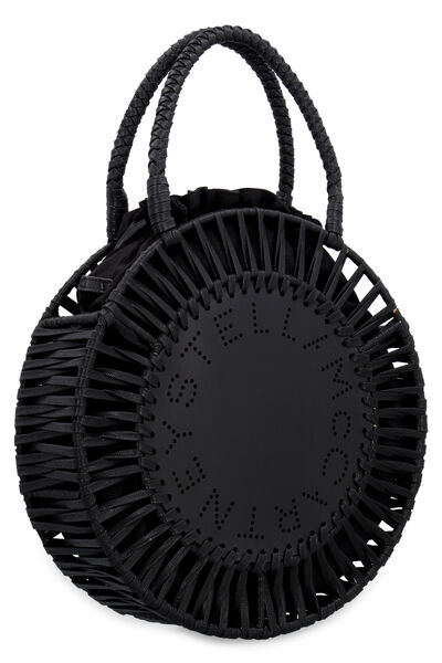 Perforated front logo bag