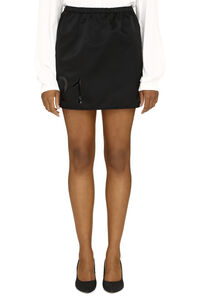 Technical fabric mini-skirt with logo, Mini skirts N°21 woman