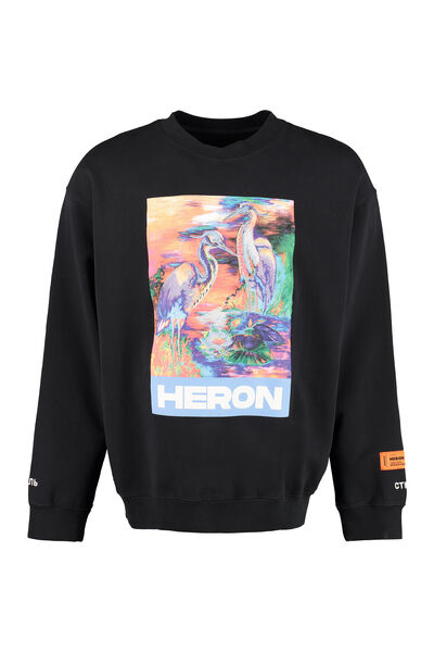 Cotton crew-neck sweatshirt