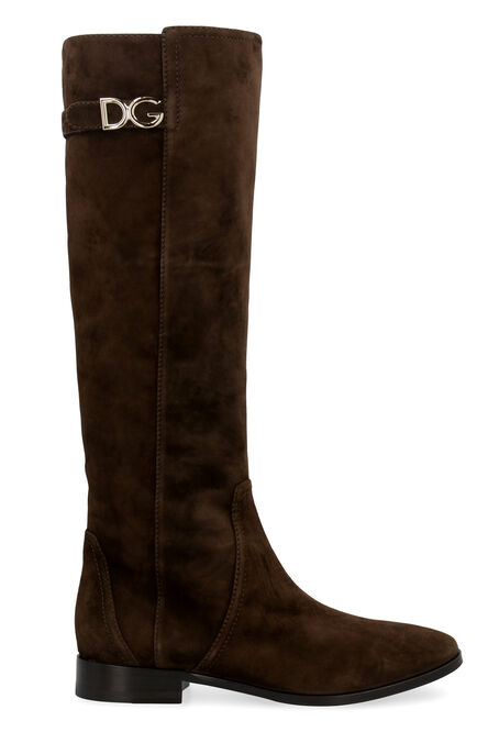 Napoli suede knee-boots, Knee-high Boots Dolce & Gabbana woman