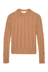 Cable knit pullover, Crew neck sweaters Marni woman