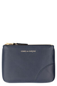 Logo detail flat leather pouch, Wallets Comme des Garçons Wallet man