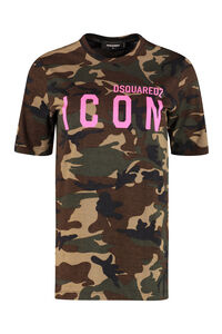 T-shirt Icon in cotone, T-shirt Dsquared2 woman