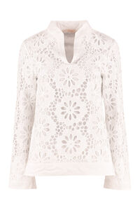 Embroidered cotton tunic, Blouses Tory Burch woman