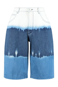 Denim wide-fit bermuda shorts, Denim Shorts Alberta Ferretti woman