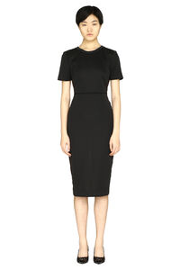Logoed stripe sheath dress, Knee Lenght Dresses Fendi woman