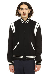 Teddy wool and leather bomber jacket, Bomber jackets Saint Laurent man