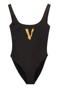 One-piece swimsuit with logo, One-Piece Versace woman