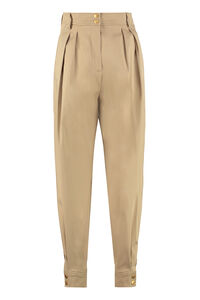 Cotton carrot-fit pants, Tapered pants Alberta Ferretti woman