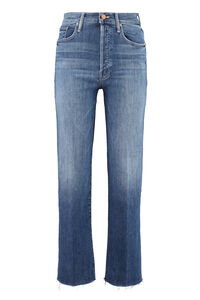 The Rambler Ankle Fray 5-pocket jeans, Straight Leg Jeans Mother woman