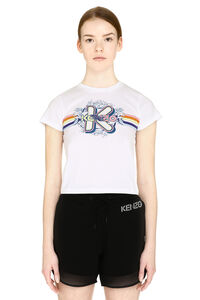 Printed cropped t-shirt, T-shirts Kenzo woman