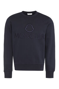 Cotton crew-neck sweatshirt, Sweatshirts Moncler man