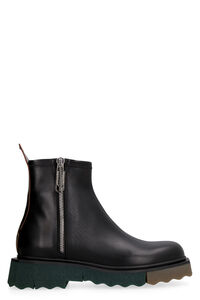 Leather ankle boots, Chelsea boots Off-White man