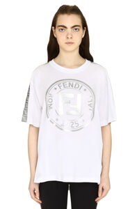 Oversize cotton T-shirt, T-shirts Fendi woman