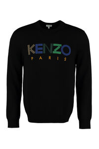 Embroidered wool pullover, Crew necks sweaters Kenzo man