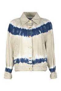 Tie-dye denim jacket, Denim Jackets Alberta Ferretti woman