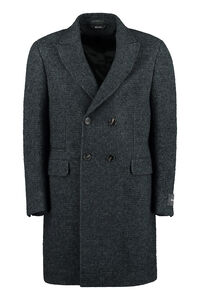 Wool blend double-breasted coat, Peacoats Z Zegna man
