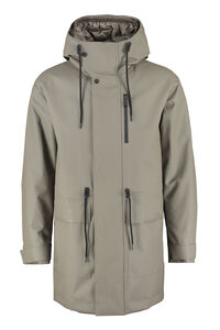 Technical fabric parka with internal removable down jacket, Parkas add man