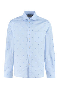 Embroidered cotton shirt, Plain Shirts Gucci man