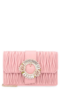 Miu Lady quilted leather clutch, Clutch Miu Miu woman