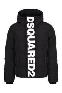 Hooded techno fabric downjacket, Down jackets Dsquared2 man