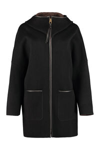 Hooded cashmere coat, Knee Lenght Coats Agnona woman