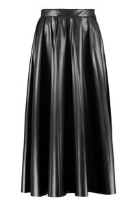Pleated faux leather skirt, Leather skirts MSGM woman