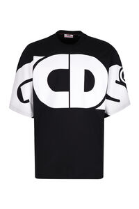 Short sleeve printed cotton t-shirt, Short sleeve t-shirts GCDS man