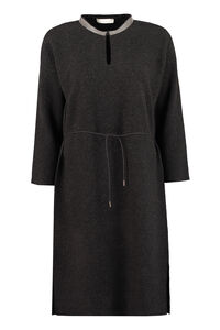 Adjustable drawstring knit dress, Mini dresses Fabiana Filippi woman