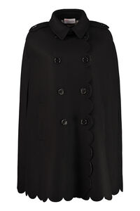 Wool blend cape coat, Capes Red Valentino woman